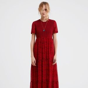 Zara Floral Maxi Dress  Size Medium NWT